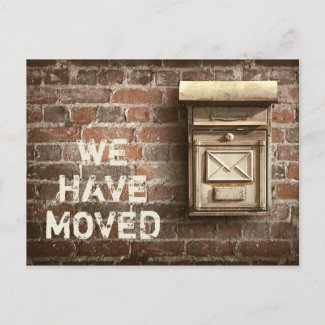 Industrial Vintage Relocation New Address Announcement Postcard