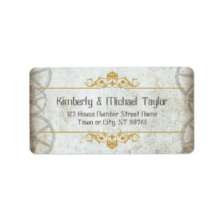 Industrial Vintage Steampunk Wedding Label