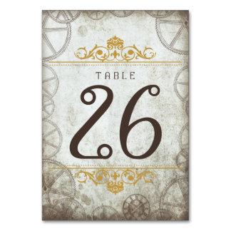 Industrial Vintage Steampunk Wedding Table Number