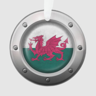 Industrial Welsh Flag with Steel Graphic