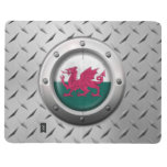 Industrial Welsh Flag with Steel Graphic Journals