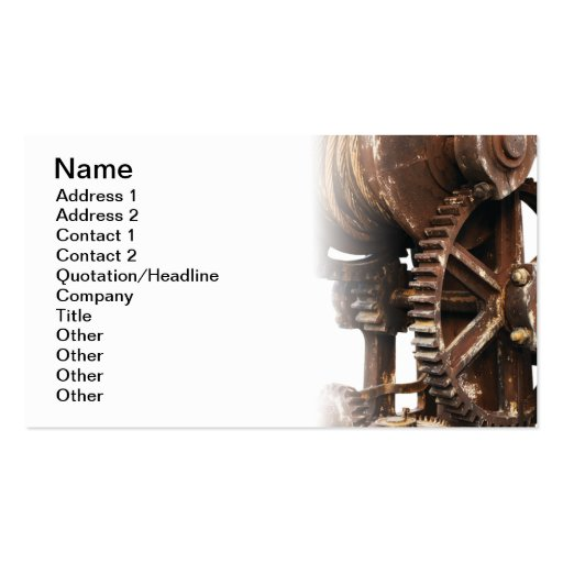 Industrial wheel business card templates