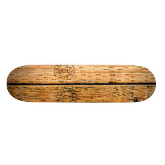 Industrial Wood Stripes Made in USA Skateboard Deck
