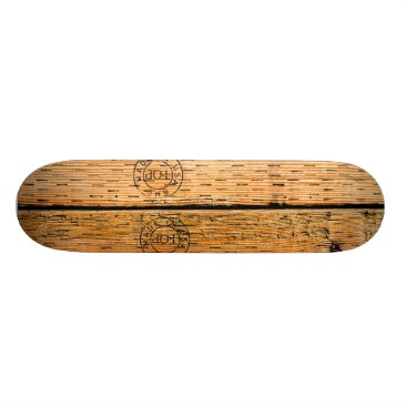 USA Themed Industrial Wood Stripes Made in USA Skateboard Deck