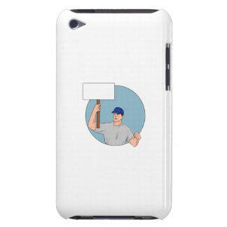 Industrial Worker Activist Placard Protesting Circ iPod Touch Case-Mate Case