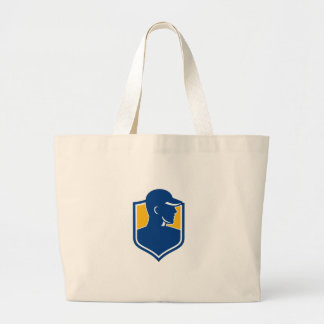 Industrial Worker Crest Icon Large Tote Bag