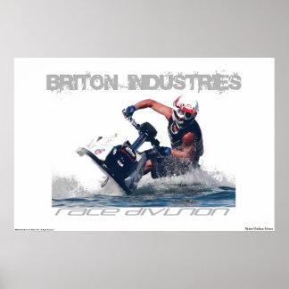 Industrias británico póster