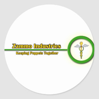 Industrias de Zammo Pegatina Redonda