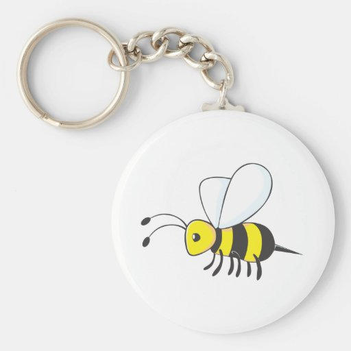Industrious Bee Insect Key Chains