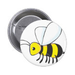 Industrious Bee Insect Pinback Button