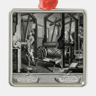 Industry and Idleness Metal Ornament