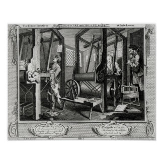 Industry and Idleness Poster
