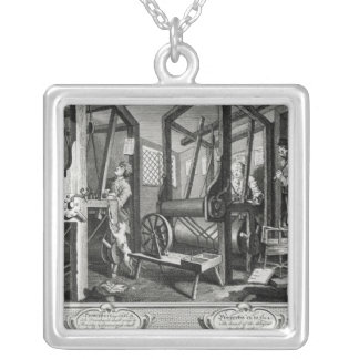Industry and Idleness Silver Plated Necklace