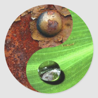 Industry and nature classic round sticker