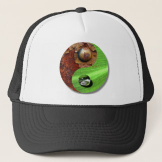 Industry and nature trucker hat