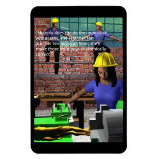 Industry - Machine+Shop - Lathe Operator Rectangular Photo Magnet