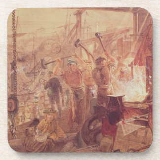 Industry on the Tyne: Iron and Coal (w/c) Beverage Coaster