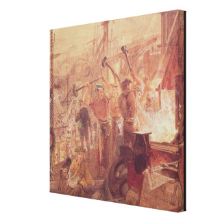 Industry on the Tyne: Iron and Coal (w/c) Gallery Wrap Canvas