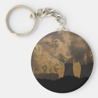 Industry polluting the atmosphere keychain