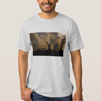 Industry polluting the atmosphere tee shirt