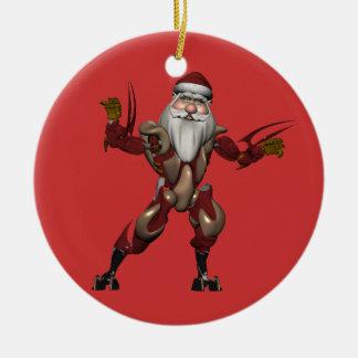 Industry Robot Santa Claus Ceramic Ornament