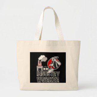 Industry worker large tote bag