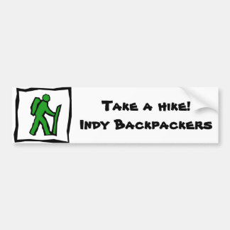 Indy Backpackers Bumper Sticker