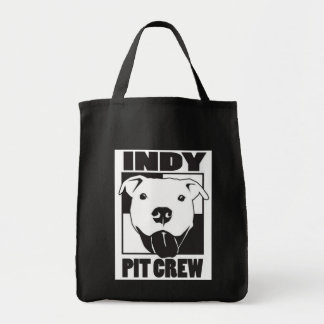 Indy Pit Crew Logo Grocery Tote Canvas Bag