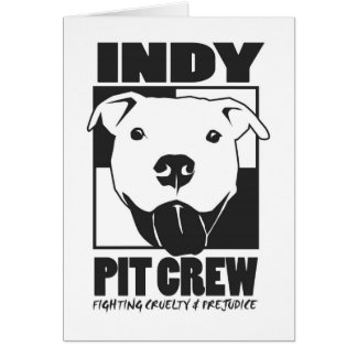 Indy Pit Crew Official Logo Greeting Card