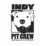 Indy Pit Crew Official Logo Postcard