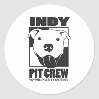 Indy Pit Crew Official Logo Stickers