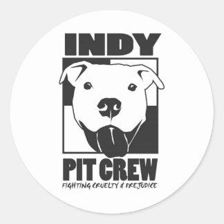 Indy Pit Crew Official Logo Round Sticker