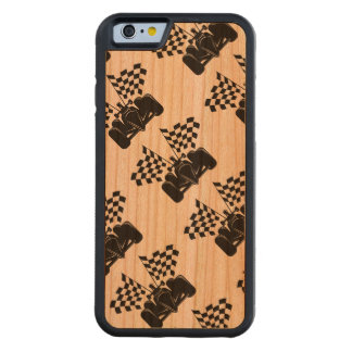 Indy Race Car with Checked Flags Carved® Cherry iPhone 6 Bumper