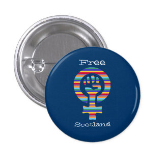 Indy Scottish Independence Feminist Symbol Pinback Button