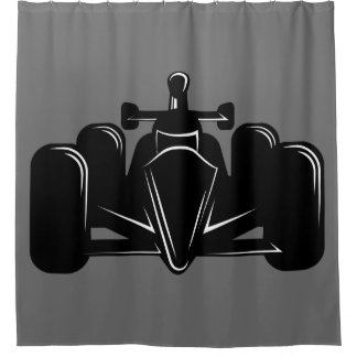 Racing shower curtains zazzle for Race car shower curtain