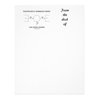 Inefficient Working Body Located Inside Physics Letterhead