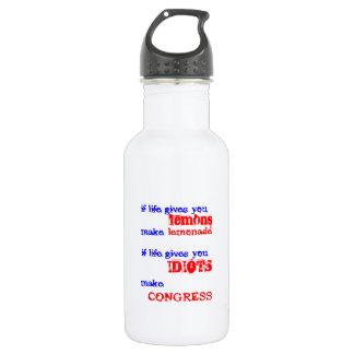 inept politics stainless steel water bottle