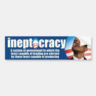 ineptocracy - anti Obama Car Bumper Sticker