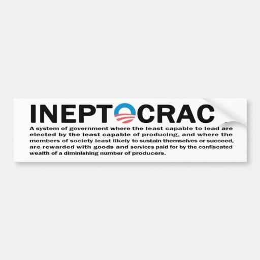 Ineptocracy Bumper Stickers