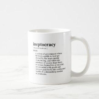 INEPTOCRACY CLASSIC WHITE COFFEE MUG