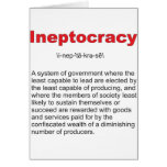 Ineptocracy Crazy system of government Card
