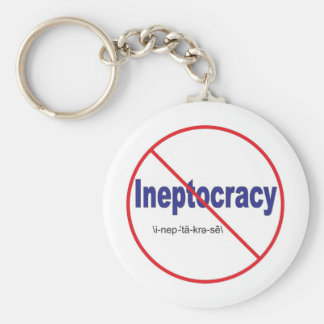 Ineptocracy Crazy system of government Keychain