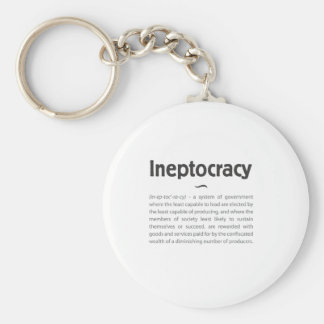 Ineptocracy Defined Keychain