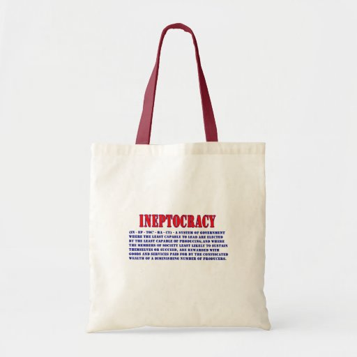 INEPTOCRACY DEFINITION BUDGET TOTE BAG