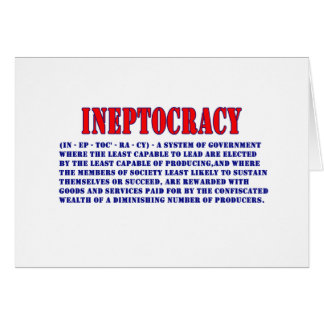 INEPTOCRACY DEFINITION CARD