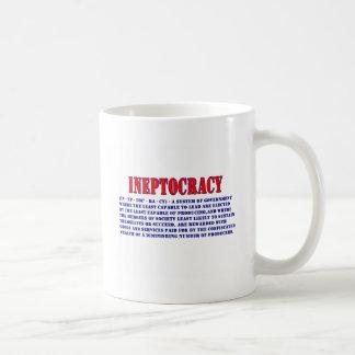 INEPTOCRACY DEFINITION COFFEE MUG