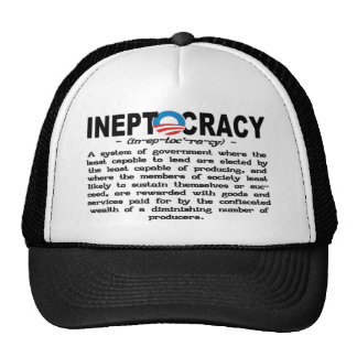 Ineptocracy Definition Hat (black)