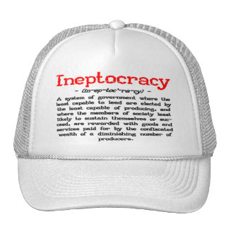 Ineptocracy Definition Hat (white)