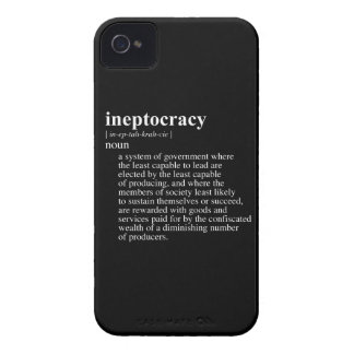 Ineptocracy Definition.png iPhone 4 Case-Mate Case
