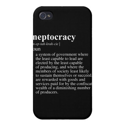 Ineptocracy Definition.png iPhone 4/4S Funda